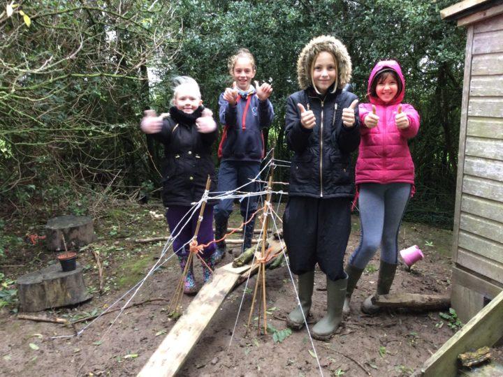 Outdoor learning 11.10.19 suspension bridges week 2 of 2