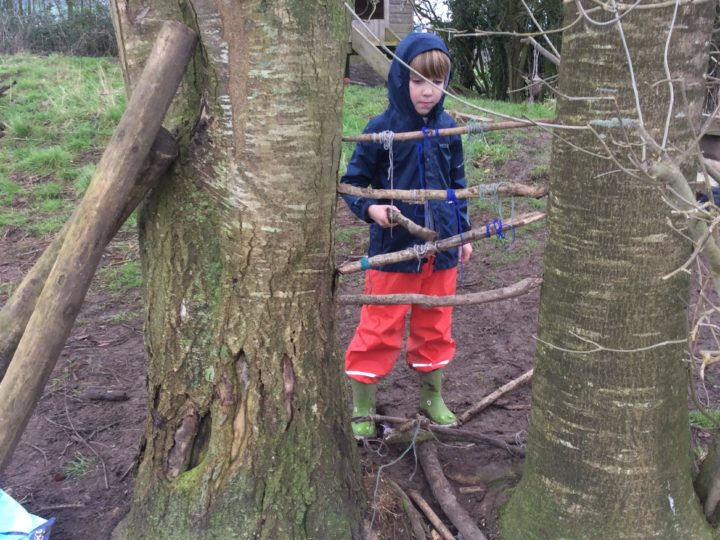 Outdoor learning 24.01.20 making music 1 of 2